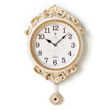 Polaris European Garden Pendulum Clock Silent Great Wall Clock American Household Decorative Wall Clock Creative Quartz Clock