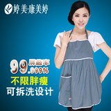 Tingmei silver fiber radiation protection apron maternity dress 2019 removable and washable long apron computer mobile phone protective clothing