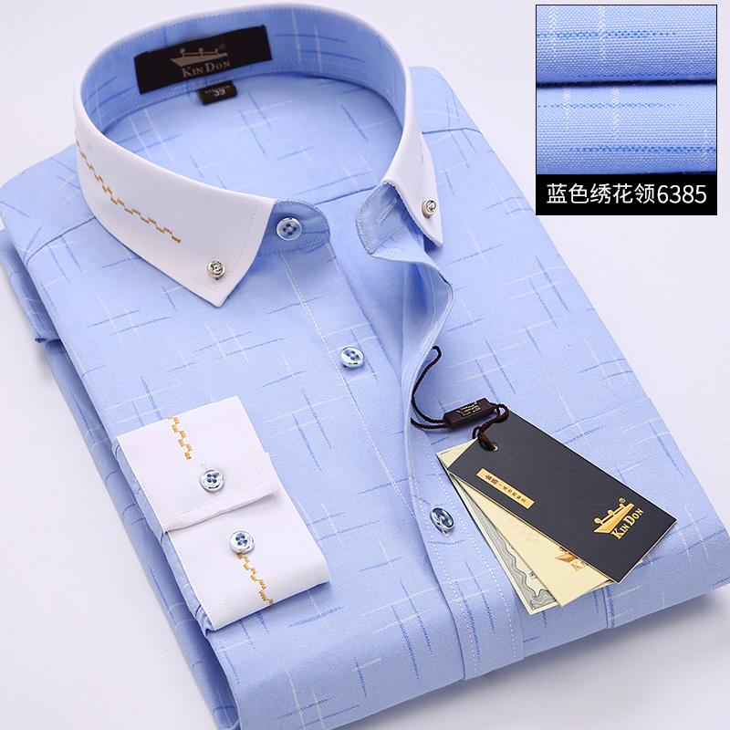 印花小领衬衫