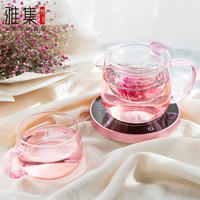 Ya set glass flower teapot with filter heating insulation set heat-resistant high temperature female tea tea home thermostat treasure