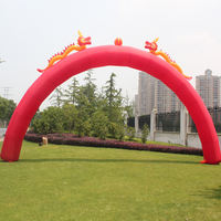Rainbow Gate Inflatable Arch Wedding Opening Celebration Advertising Big Red Dragon and Phoenix Double Dragon Golden Thicken Waterproof Direct