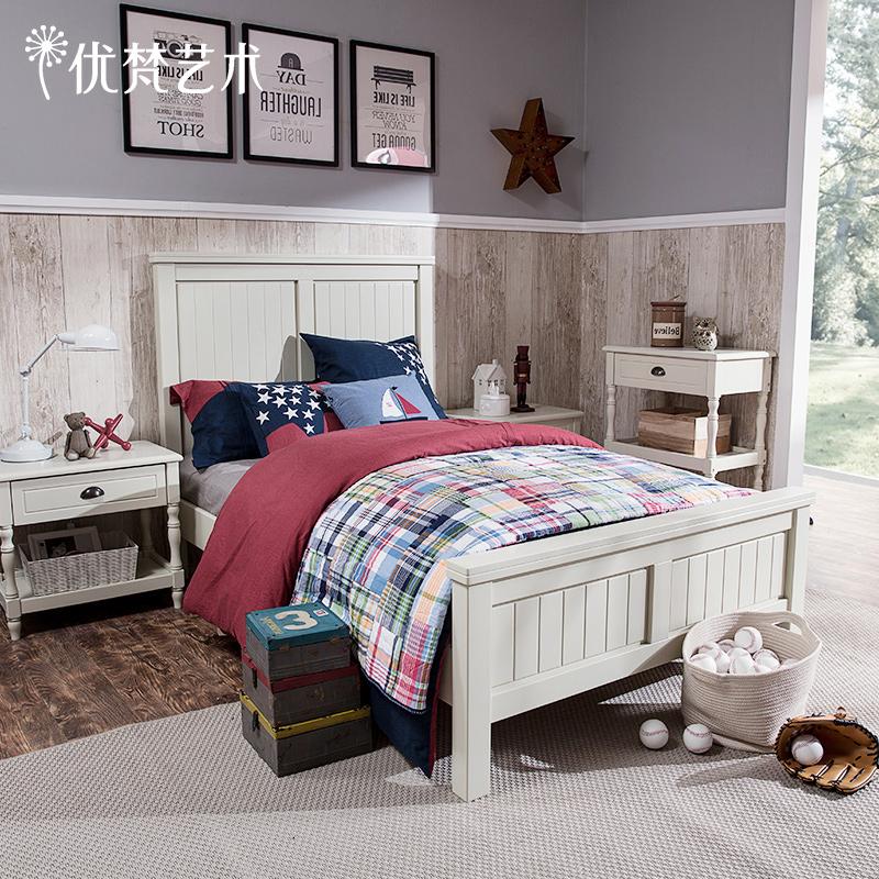 儿童实木床白