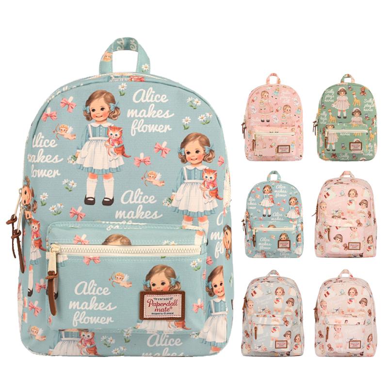 afrocat 韩国可爱娃娃双肩包13寸笔记本电脑学生书包休闲旅行背包