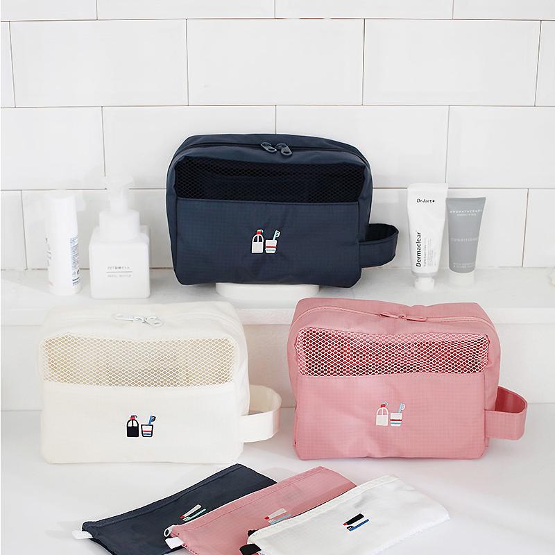 2nul 韩国创意手提旅行收纳袋轻便洗漱袋化妆包数据线收纳包中包图片