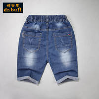 Doctor cow boy jeans pants summer thin section children's pants shorts five pants in the big children's beach pants