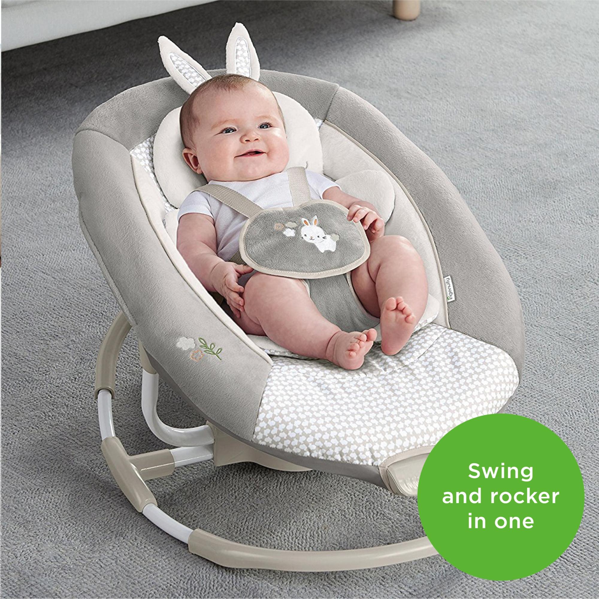 Ingenuity婴儿电动摇摇椅宝宝摇篮躺椅哄睡抖音哄娃神器安抚摇床