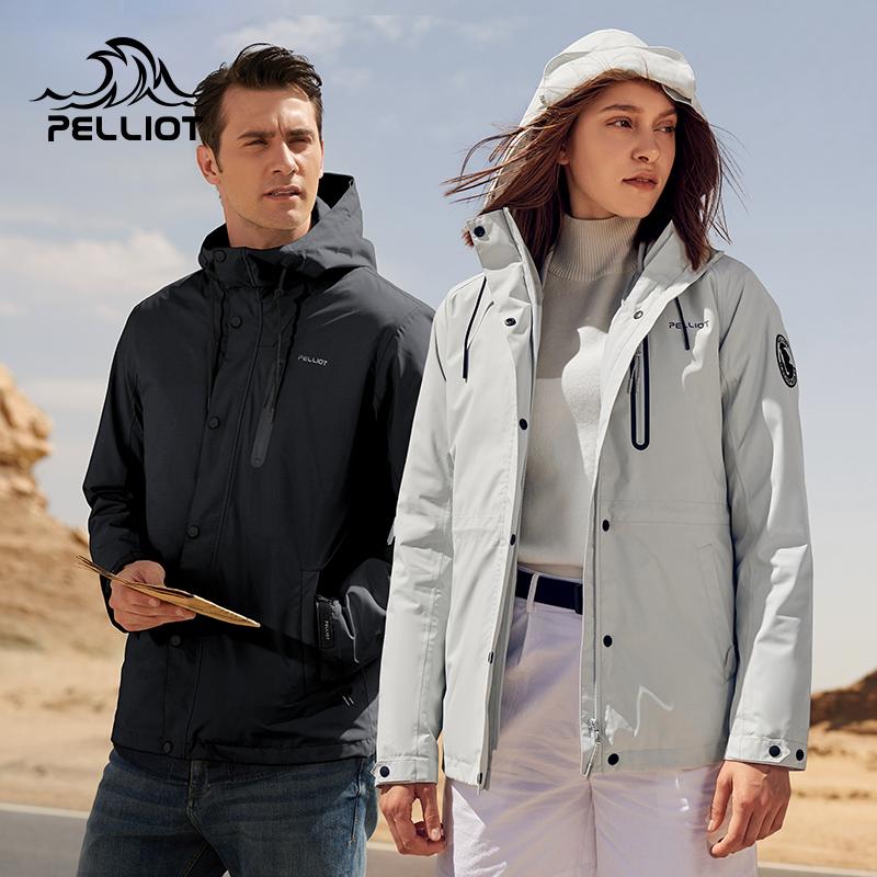 伯希和户外棉内胆冲锋衣2019冬季款男女中长款三合一可拆卸登山服