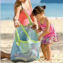 超大容量沙滩玩具收纳袋网兜户外游泳儿童湿衣物浴巾妈妈手提包