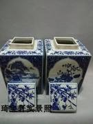 Qing Dynasty Baozheng old kiln boutique old porcelain blue and white porcelain window tea pot ornaments collection authentic antiques antiques