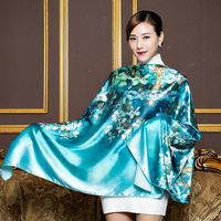 Factory direct gift wedding return ceremony Hangzhou satin silk scarf ladies autumn and winter scarf shawl multi-purpose long towel