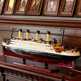 Titanic model wooden sailboat decoration living room simulation cruise ship finished ship boutique home ornaments