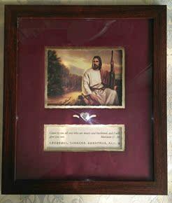 耶稣像家居装饰画客厅书房基督徒卧室挂墙画教会堂挂画基督教礼品