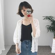 防晒衣女短款2018夏季新款韩版宽松百搭超薄开衫外搭外套女雪纺衫