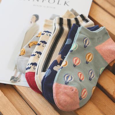 米吉诺拉创意时尚全棉女生短袜子卡通可爱春夏季低帮浅口纯棉船袜