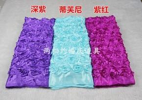 包邮婚庆玫瑰花地毯 花瓣地毯T台地毯 婚礼玫瑰地毯布置道具