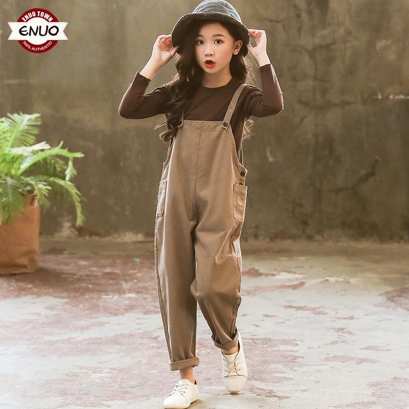 网红女童套装时髦洋气背带裤儿童装时尚大童春装2019新款小孩衣服