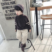 Boys high collar sweater sets of autumn and winter models 2018 children male baby water velvet mohair thickening large children's tide
