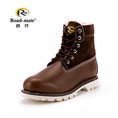 路伴男鞋冬季加绒保暖高帮户外休闲雪地靴大头工装鞋马丁靴潮