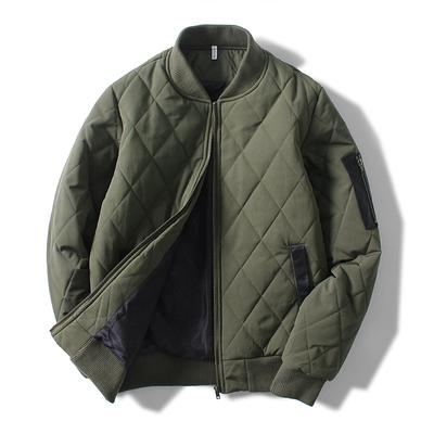 冬季潮牌MA-1空军飞行夹克加厚棉服保暖棒球服外套棉衣男韩版修身
