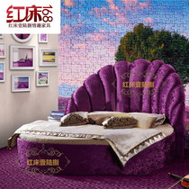 Red bed one land ba erotic bed electric bed sex bed multifunctional acacia bed water bed double theme hotel Bed