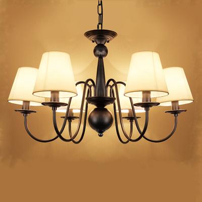 美式吊灯简约现代乡村客厅灯地中海欧式复古铁艺餐厅卧室5头灯具牌子口碑评测