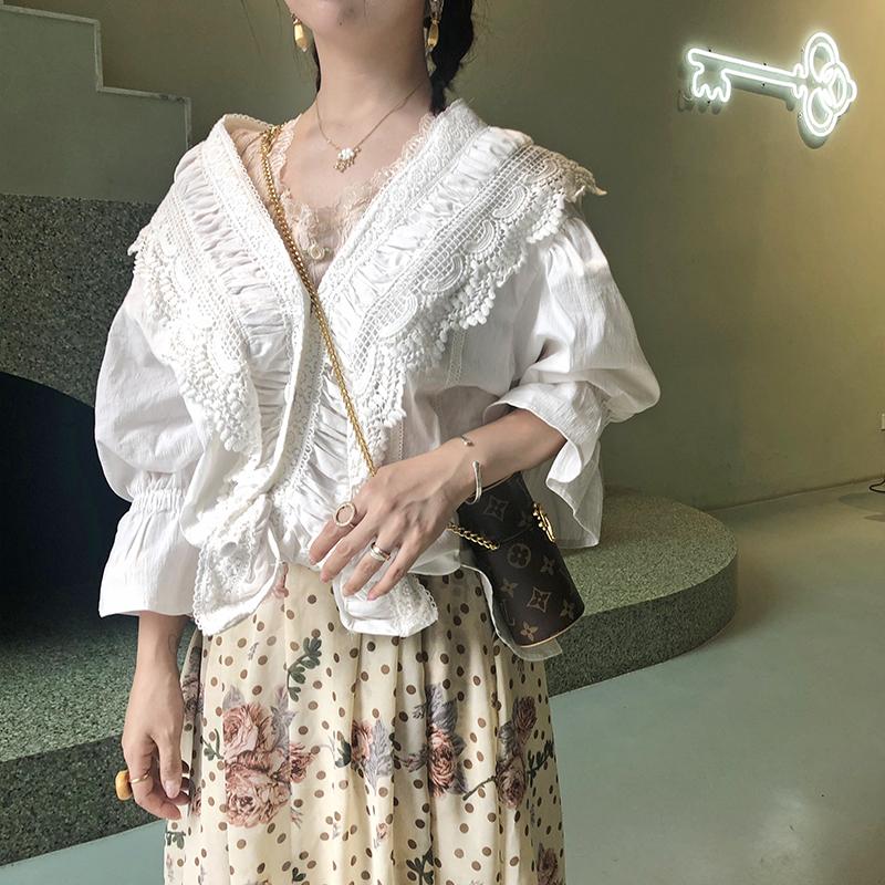 宫廷衬衫女蕾丝