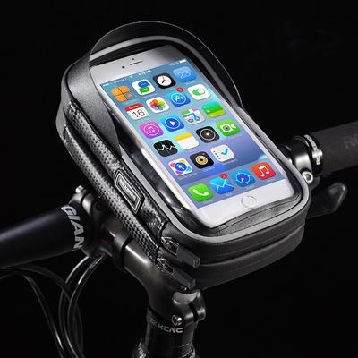 洛克兄弟自行车手机支架防雨山地车骑行电动摩托车导航固定支架包