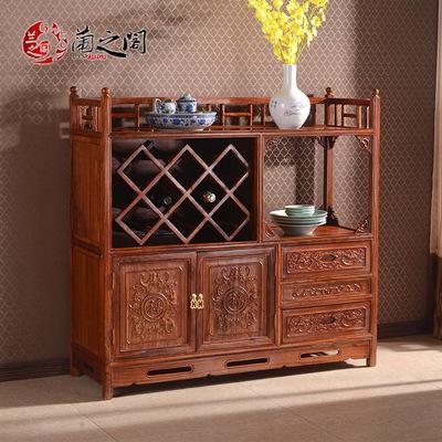 兰之阁 红木酒柜 非洲花梨木中式实木茶水柜 餐边柜 刺猬紫檀K02