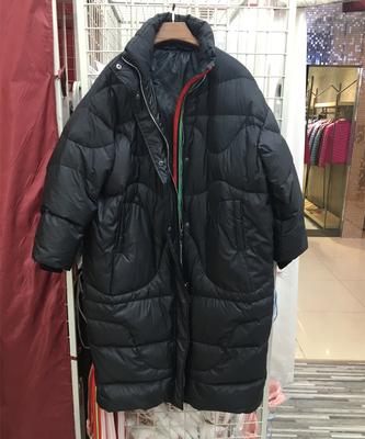 反季清仓迪丽热巴明星同款羽绒服女长款过膝韩国加厚宽松大码外套