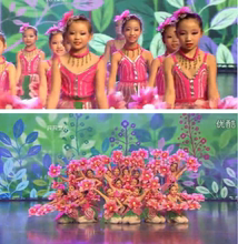 Children's performance costumes and children's stage chorus performance clothing, Peony Blossom, children's dance