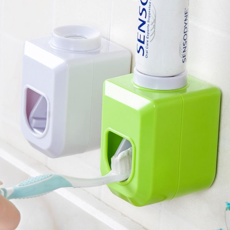 牙膏器套装吸壁式懒人全自动牙膏挤压器牙刷置物架子牙刷架牙膏架