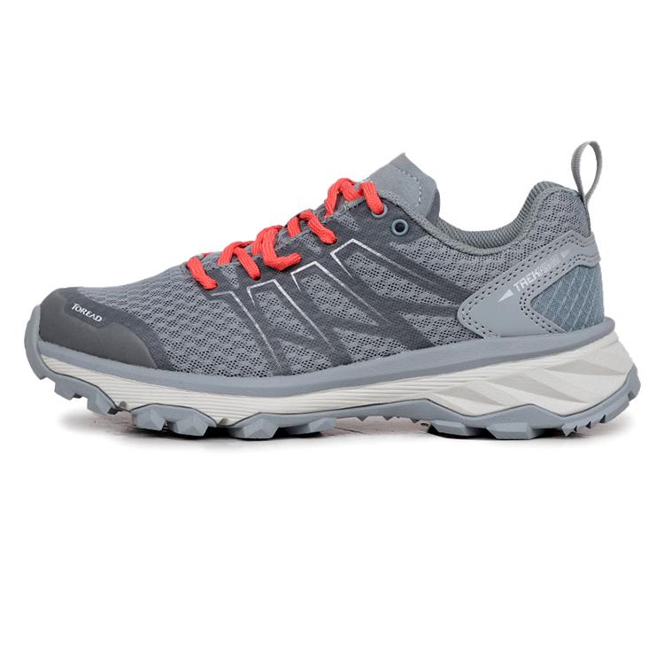 探路者女鞋2019夏新款运动休闲户外透气耐磨徒步鞋KFAH82013-C26G