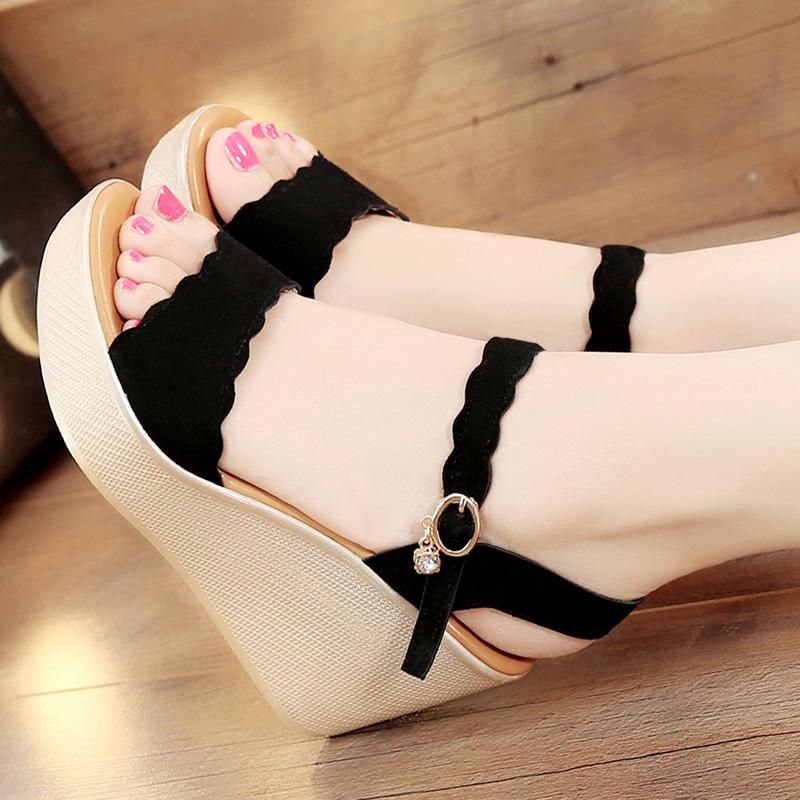 坡跟凉鞋高跟松糕厚底凉鞋