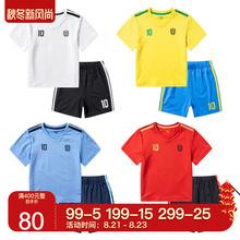 套装 巴拉巴拉男童短袖 新款 2019夏装 幼小童化纤足球服21192191142