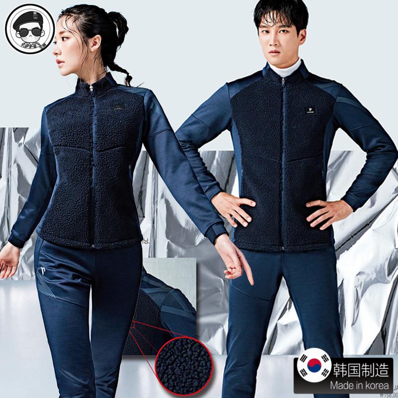 正品代购佩吉酷羽毛球服韩国女套装 男外套 秋冬服装新款长袖长裤