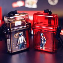 l支装中港创意超薄透明塑料烟盒软壳套软盒烟壳香菸盒子定做20