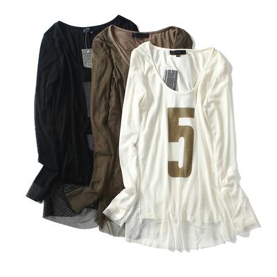 姐姐优品 2018春夏装新款修身显瘦秋衣外穿打底衫纯色长袖t恤女款