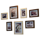 Solid wood photo wall photo wall photo frame wall creative wall combination modern minimalist children's room background decorative photo frame