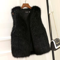 Fur vest female short paragraph 2018 autumn and winter new imitation fox fur vest thick warm vest jacket plush coat