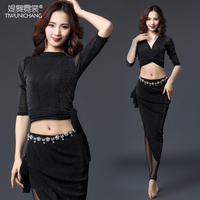 Nishang belly dance costume female 2019 new practice clothes skirt beginners oriental dance clothes sexy costumes