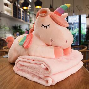 汽车抱枕被子两用多功能午睡枕头空调毯子珊瑚绒个性可爱女冬季