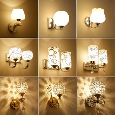 壁燈床頭現代簡約LED臥室燈創意歐式美式客廳樓梯過道酒店墻壁燈特價