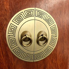 New Chinese antique furniture copper fittings pure copper cabinet door wardrobe cabinet round door all copper handle door lock