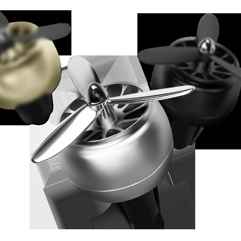 空军一2二3三号车载香水出风口一号小风扇旋转汽车空调装饰螺旋桨