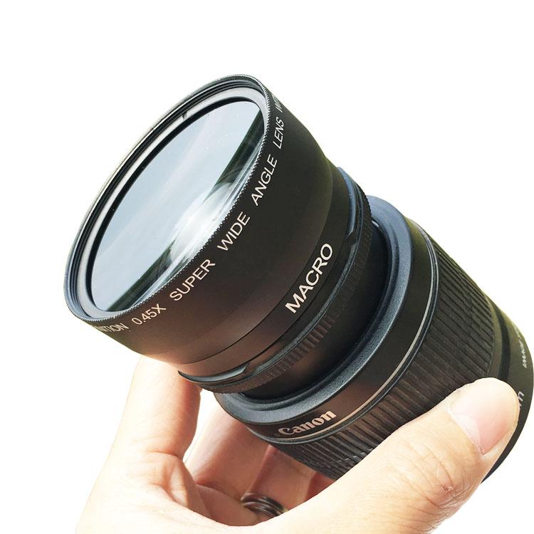 46mm 0.45x倍 广角附加镜头 带微距镜 松下 G1 GF1 GF2 GF3 饼干
