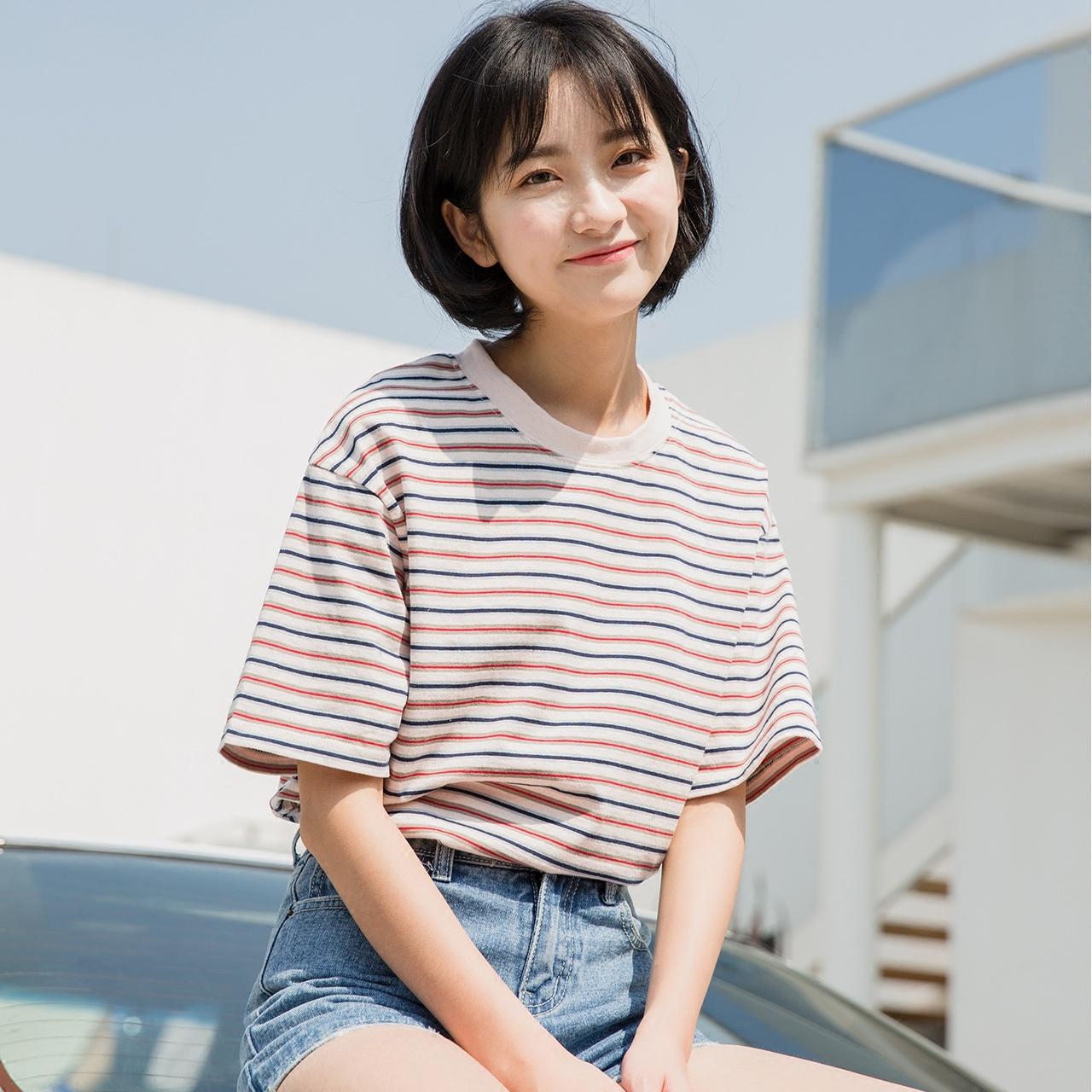彩色韩版t恤