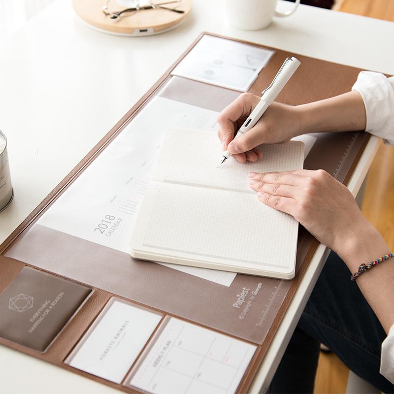 广博多功能大桌垫游戏鼠标垫书桌垫纯色简约键盘垫办公笔记本桌垫