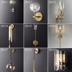 后现代壁灯卧室床头灯简约过道走廊镜前铜色背景墙创意北欧墙壁灯