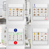 Removable wall sticker switch panel button text prompt label logo luminous self-adhesive decorative waterproof sticker