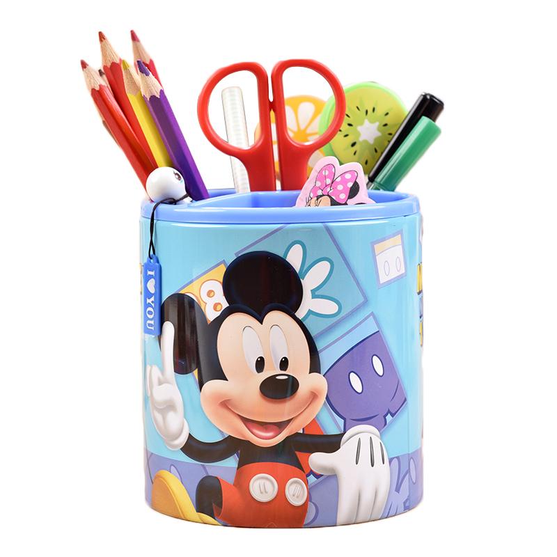 迪士尼儿童卡通笔筒男孩女孩小学生多功能可爱创意文具收纳盒